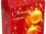 Кашированная упаковка новый год